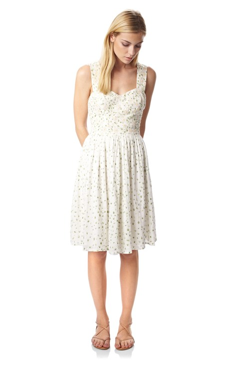 Elizabeth Embroidered Dress - Old-Hidden Styles - French Connection Usa