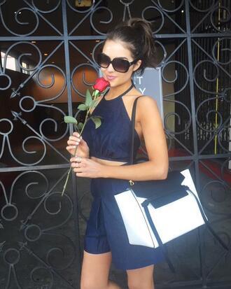 shorts olivia culpo top sunglasses