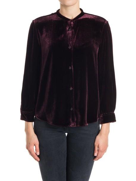 ASPESI blouse velvet burgundy top