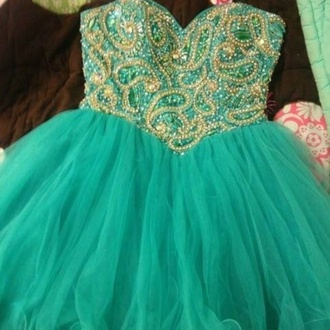 dress cute jewls beautiful teal corset homecoming dress jewels