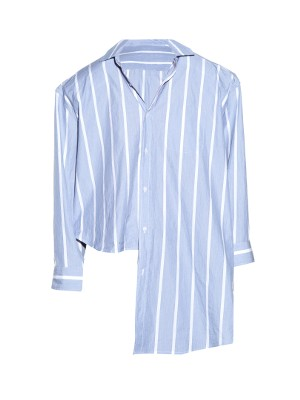 Oversized uneven-hem striped shirt | Vetements | MATCHESFASHION.COM US