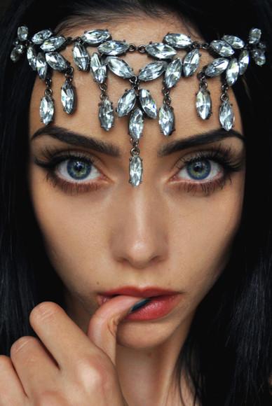 diamons hair accessories hair band jewels head piece hippie headband headband headdress head dress cute