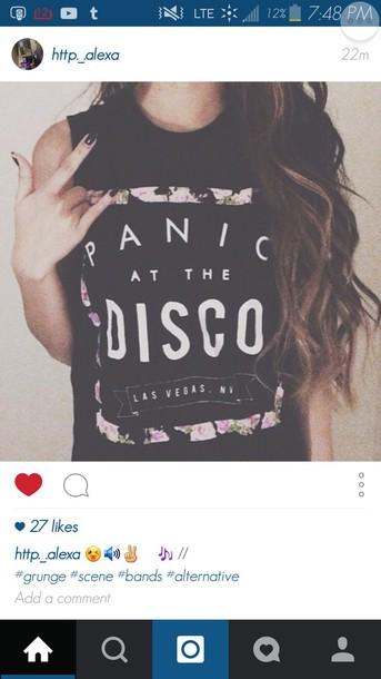 6c051d3a t-shirt, panic! at the disco, band t-shirt, merch, top, black ...