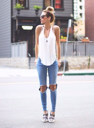 shirt white white tank top top long curve scoop neak tank top white top style fashion blouse jeans jewels pants shoes