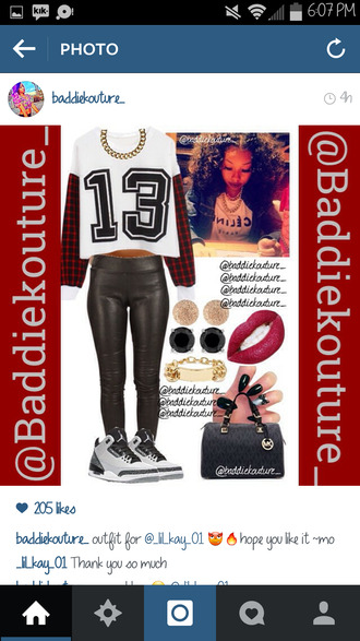 13 outfit outfit idea baddiekouture_ dope bag jewels