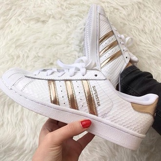 shoes addias shoes rose gold adidas superstars
