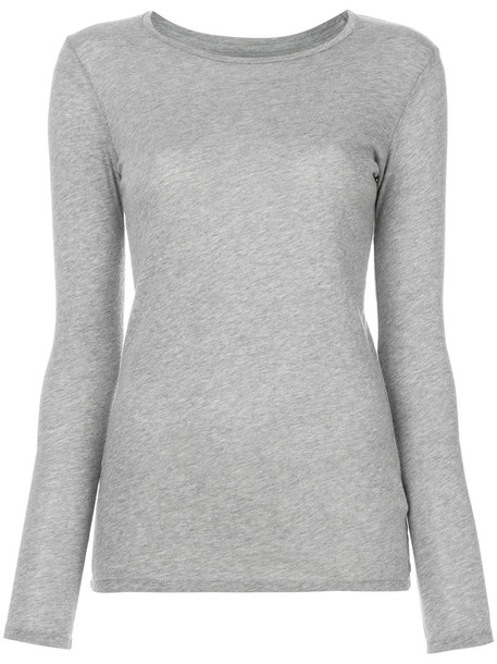 Majestic Filatures sweater women cotton knit grey