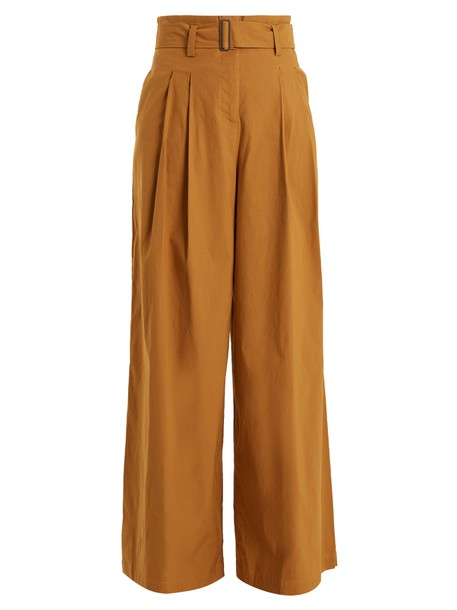 high camel pants