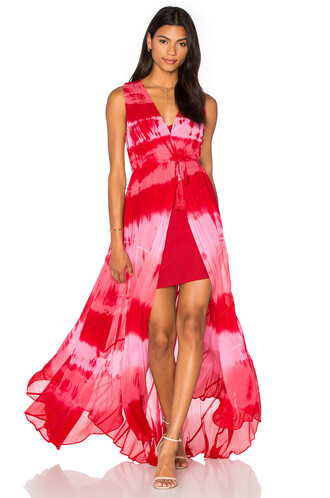 gown tie dye red