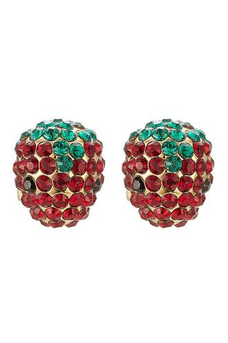 earrings stud earrings strawberry gold jewels