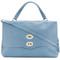 Zanellato - postina tote - women - leather - one size, blue, leather