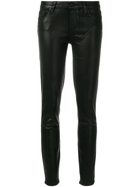 jeans skinny jeans women shiny spandex cotton black 24