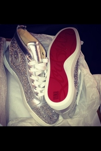 shoes christian louboutin red bottoms sneakers