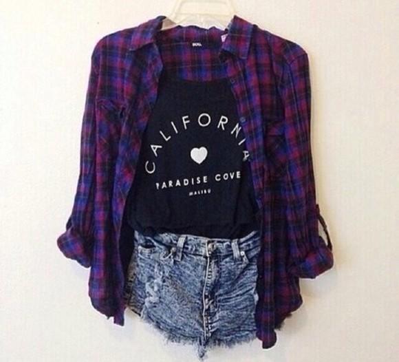 california blouse purple and blue