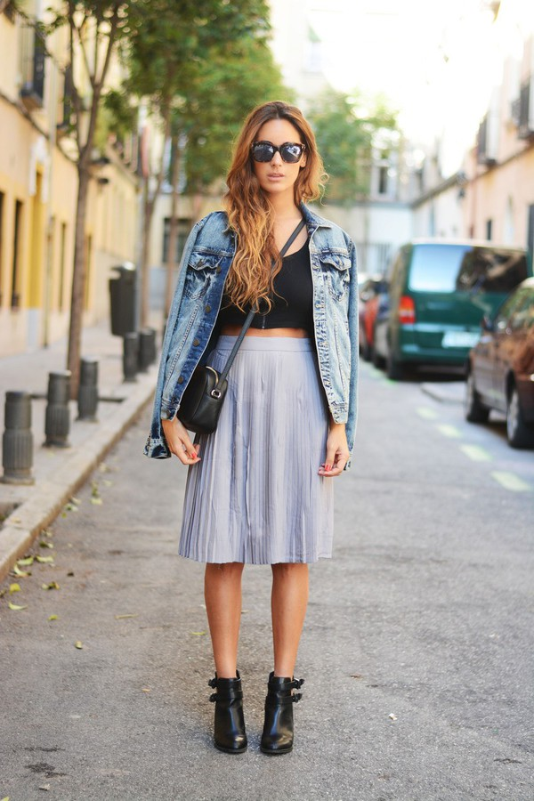 stella wants to die blogger top sunglasses jacket skirt