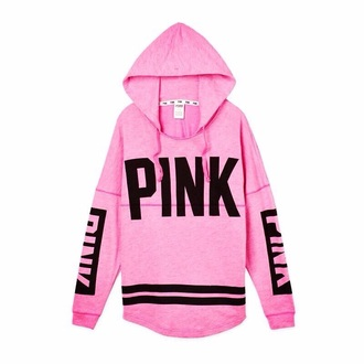 top victoria's secret hoodie pink by victorias secret
