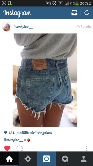 shorts levis jeans hotpants