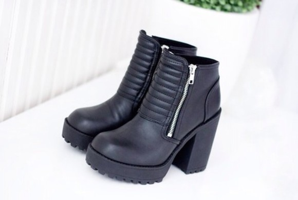 shoes platform black platformshoes platform high heels boots