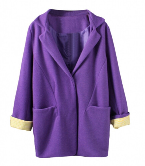 purple top sweater clothes blackfive coat jacket cardigan jumper trench coat fashion winter/autumn outfit