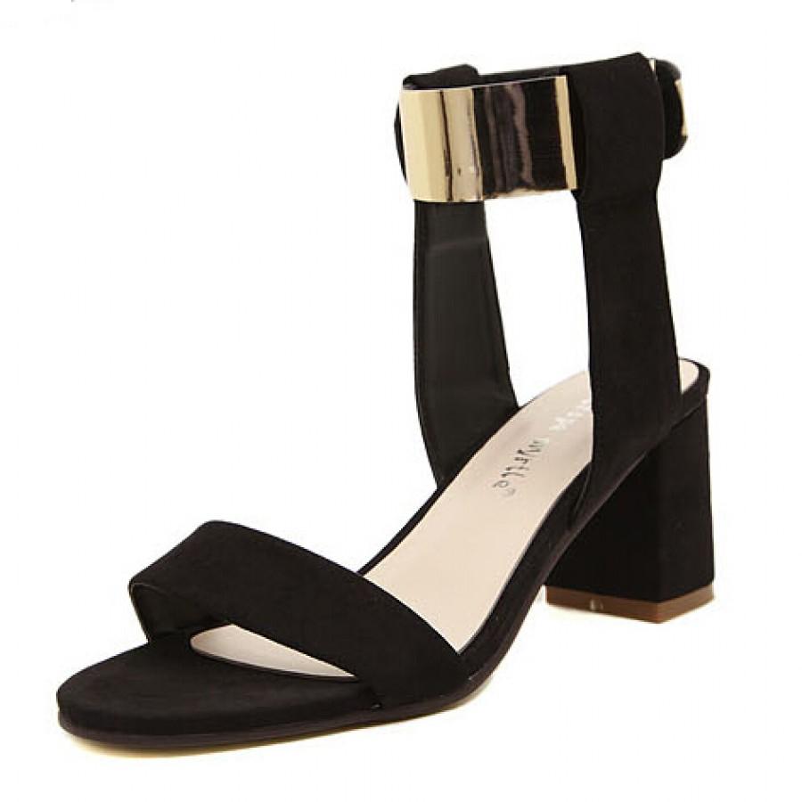 Chunky Black High Heels