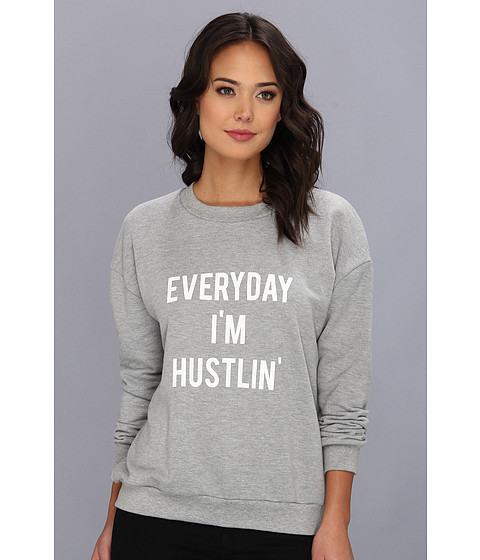 StyleStalker Hustlin Sweater Grey Marle - Zappos.com Free Shipping BOTH Ways