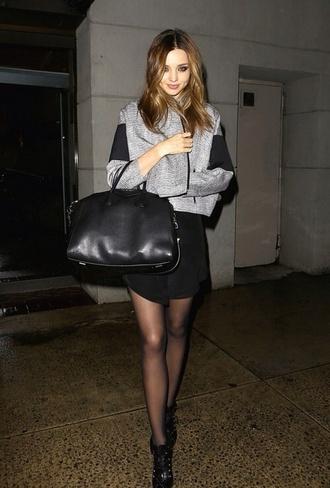 coat grey black miranda kerr miranda kerr celebrity streetstyle
