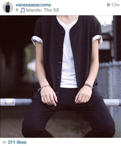 top vest button up shirt