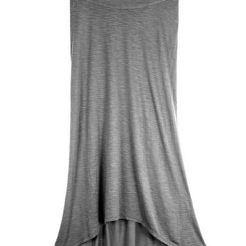 Keo: Upcycled Grey Long Skirt on Wanelo
