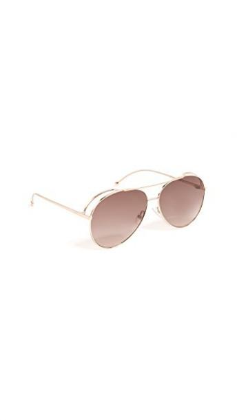 Fendi sunglasses aviator sunglasses gold brown copper