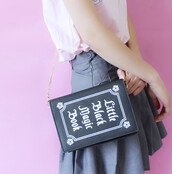bag,magic,book,book shaped,shoulder bag,handbag,purse,crossbody bag,harajuku,fairy kei,kawaii,patel,grunge,pastel,japanese fashion,japanese fashion style,storenvy,dejavucatstorenvy,tumblr outfit,tumblr fashion,dejavucat,kawaii grunge,kawaii bag