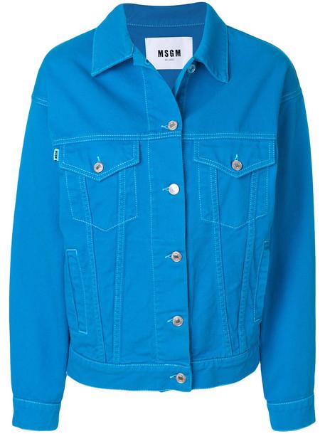 MSGM jacket denim jacket denim women cotton blue