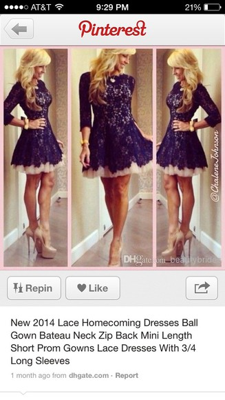 dress style mini black lace dress homecoming dress classy dress lace nude half-sleeved mini dress