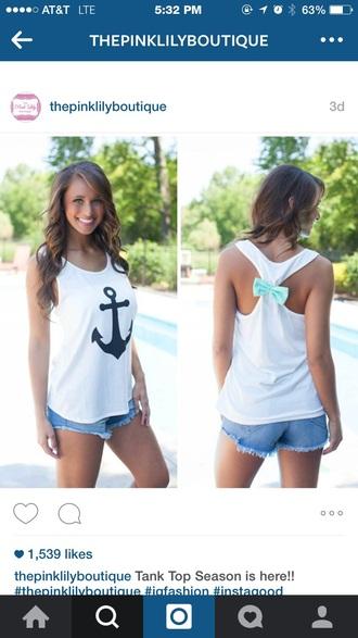 tank top anchor white white tank top nautical