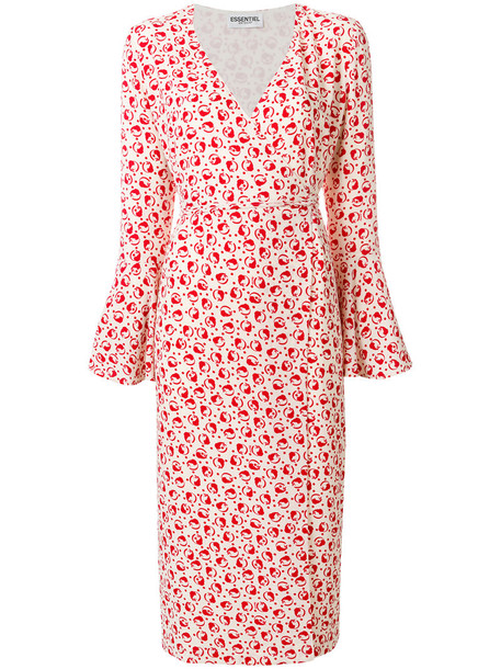 ESSENTIEL ANTWERP dress midi dress embroidered women midi spandex white