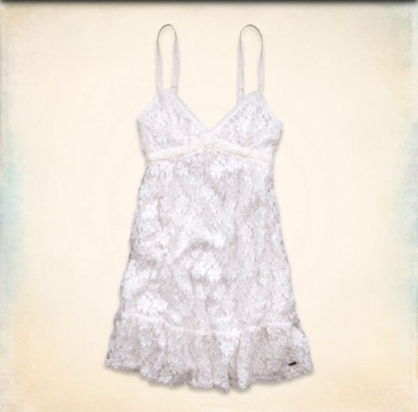 dress white lace summer