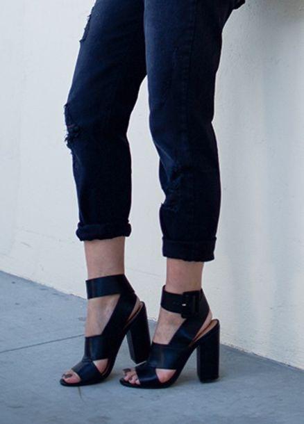 d827801754b shoes neon blush shoemint shoe mint fashion blog block heels buckles ankle  strap heels black heels