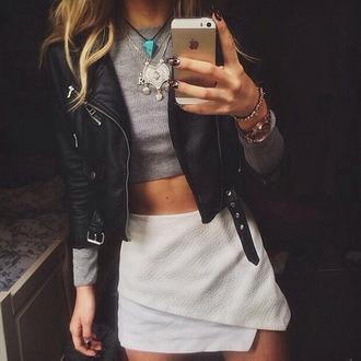 skirt edgy edgy skirt bold leather skirt