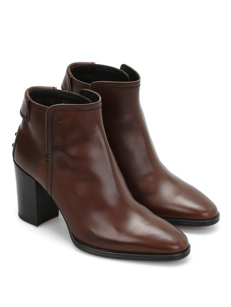 Tods booties leather shoes