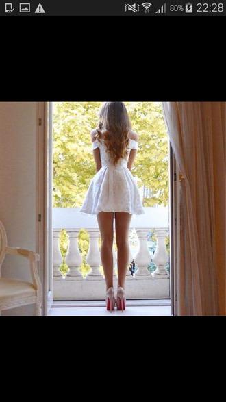 dress white dress off the shoulder dress