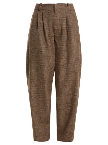 Chloe wool brown pants