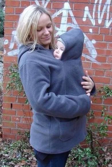 grey sweater cardigan fleece baby