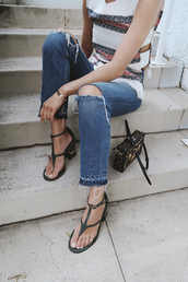 song of style,blogger,jeans,ripped jeans,frayed denim,sandals,mini bag,designer bag,louis vuitton bag,summer top,tribal pattern,spring outfits,boxed bag,shoes,high heel sandals,sea of shoes,sandal heels