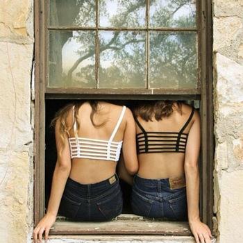 Vosicar 2015 new 1pc sexy crop tops women strap blouse vest cut out shirt summer beach tanke sexy hot sale