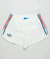 shorts,adidas shorts,athletic,adidas,blue,white,red,cute,workout,fitness