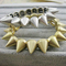 Ebay | fashion multi spike stud stretch punk gothic bracelet free shipping