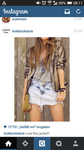 jacket golden sparkling sparkling jacket glitter golden glitter