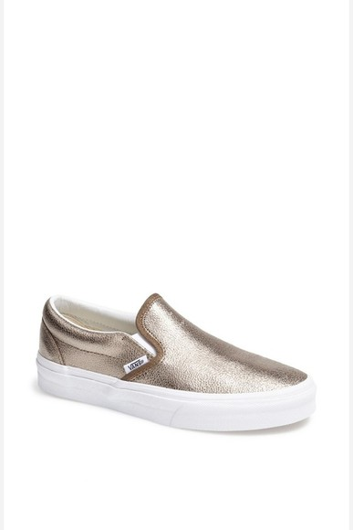 vans vans off the wall shoes gold cute