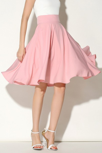 skirt pink girly flowy midi fashion summer