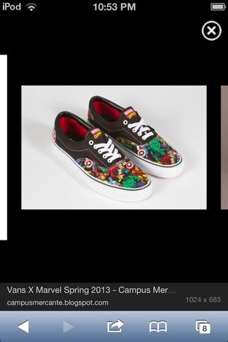 shoes vans marvel inc vans