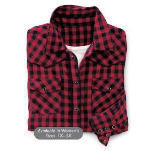 Buffalo Plaid Shirt - Horse Themed Gifts, Clothing, Jewelry and Accessories all for Horse Lovers | Back In The Saddle